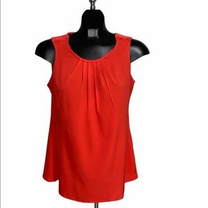 Women's Banana Republic Red Sleeveless Blouse / M